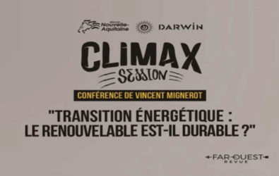 Climax Session, Darwin, Renouvelable durable